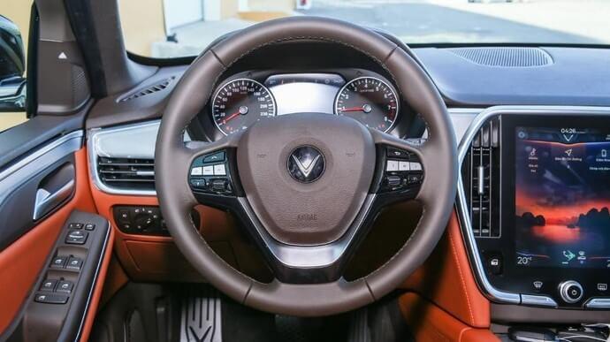 Thiết kế vô lăng của VinFast Lux SA2.0