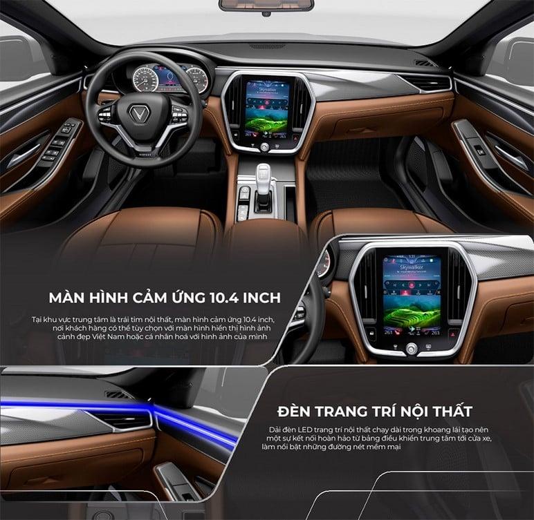 Đánh giá nội thất xe ô tô VinFast Lux A2.0