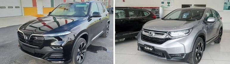 So sánh ngoại thất VinFast Lux SA2.0 & Honda CRV