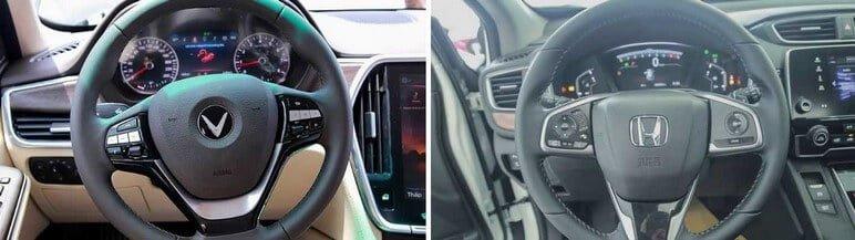 So sánh vô lăng VinFast Lux SA2.0 - Honda CRV