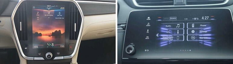 Tiện ích giải trí của VinFast Lux SA2.0 & Honda CRV