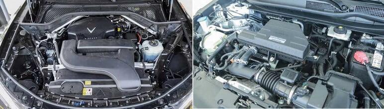 Đánh giá động cơ của VinFast Lux SA2.0 và Honda CRV