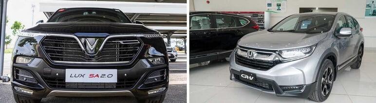 Đánh giá đầu xe VinFast Lux SA2.0 & Honda CRV