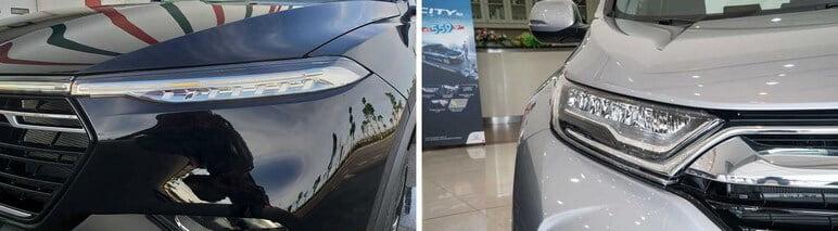 Hệ thống chiếu sáng giữa VinFast Lux SA2.0 & Honda CRV