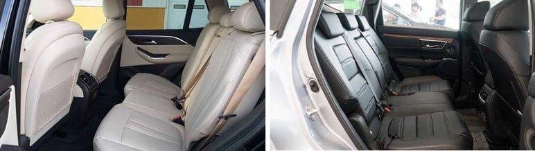 Ghế ngồi giữa VinFast Lux SA2.0 & Honda CRV