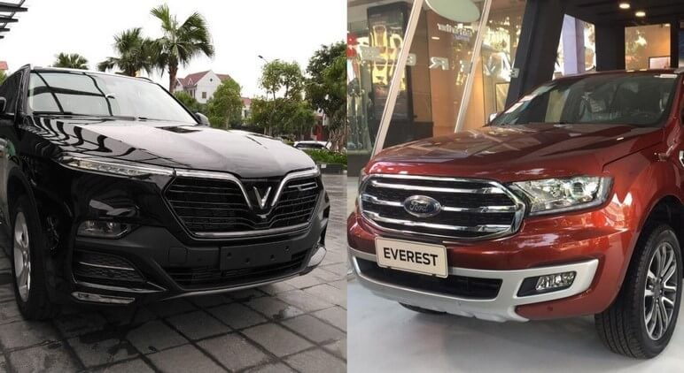 So sánh VinFast Lux SA2.0 - Ford Everest Titanium
