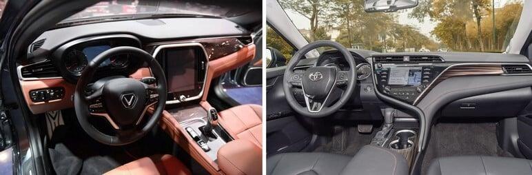 So sánh nội thất VinFast Lux A2.0 và Toyota Camry 2019