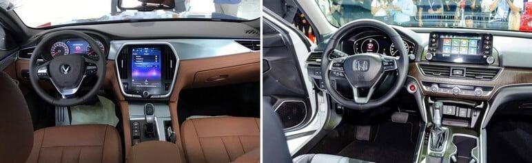 VinFast Lux A2.0 và Honda Accord 2020