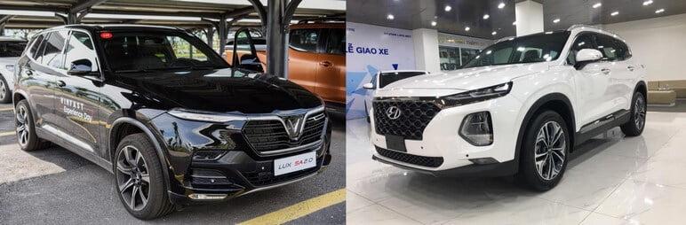 Với 1.5 Tỷ - Nên Chọn VinFast Lux SA2.0 hay Hyundai SantaFe