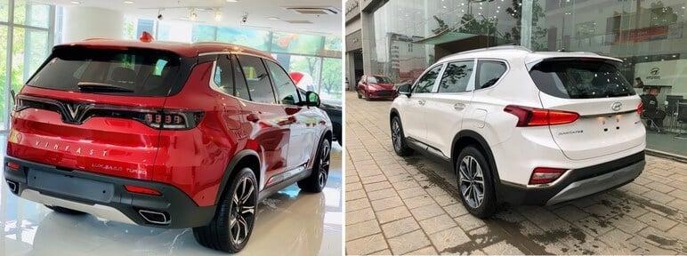 Nên Mua VinFast Lux SA2.0 hay Hyundai SantaFe