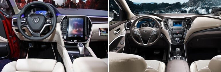So Sánh VinFast Lux SA2.0 hay Hyundai SantaFe