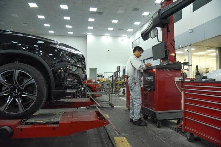 Xe ô tô VinFast được bảo dưỡng theo quy trình nghiêm ngặt