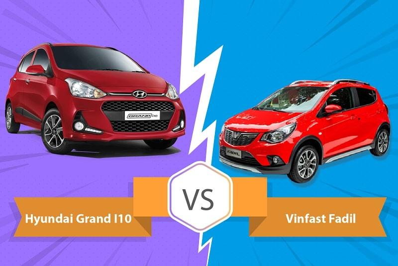 So sánh ô tô VinFast Fadil và Grand i10