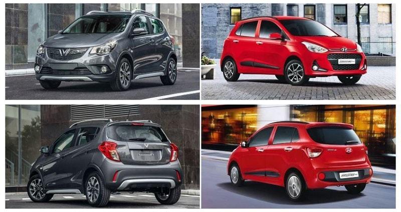 So sánh ngoại thất của ô tô VinFast Fadil và Grand i10