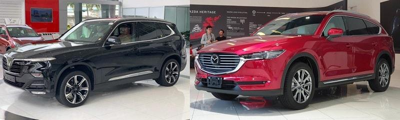Ngoại thất của VinFast Lux SA2.0 và Mazda CX-8 2020