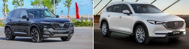 Các trang bị an toàn của VinFast Lux SA2.0 và Mazda CX-8 2020