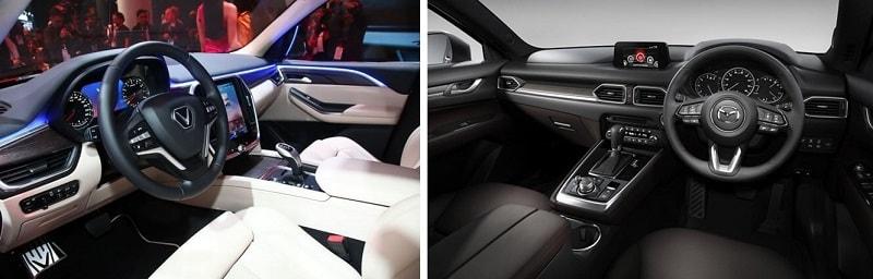 Nội thất của VinFast Lux SA2.0 và Mazda CX-8 2020