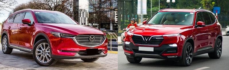 So sánh VinFast Lux SA2.0 với Mazda CX-8 2020