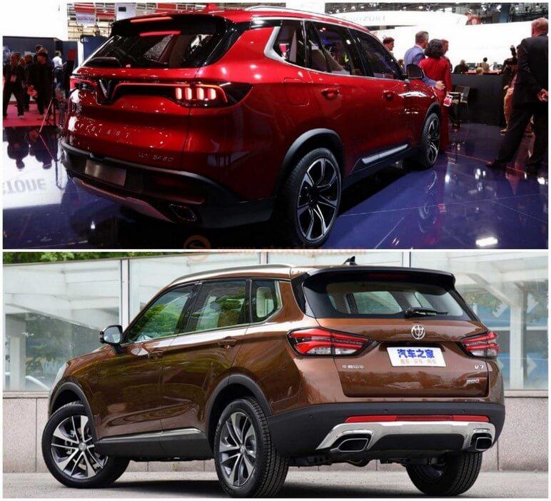 SUV LUX SA 2.0 và SUV Brilliance V7