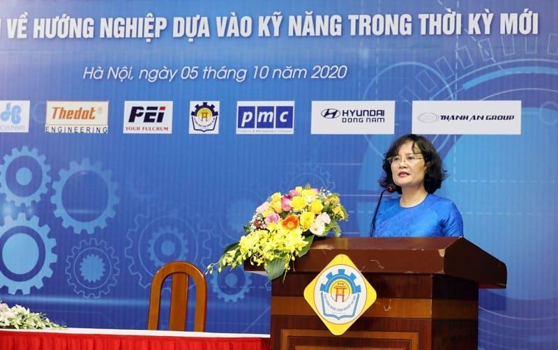 Bà Nguyễn Thị Việt Hương, Phó Tổng cục trưởng Tổng cục Giáo dục nghề nghiệp