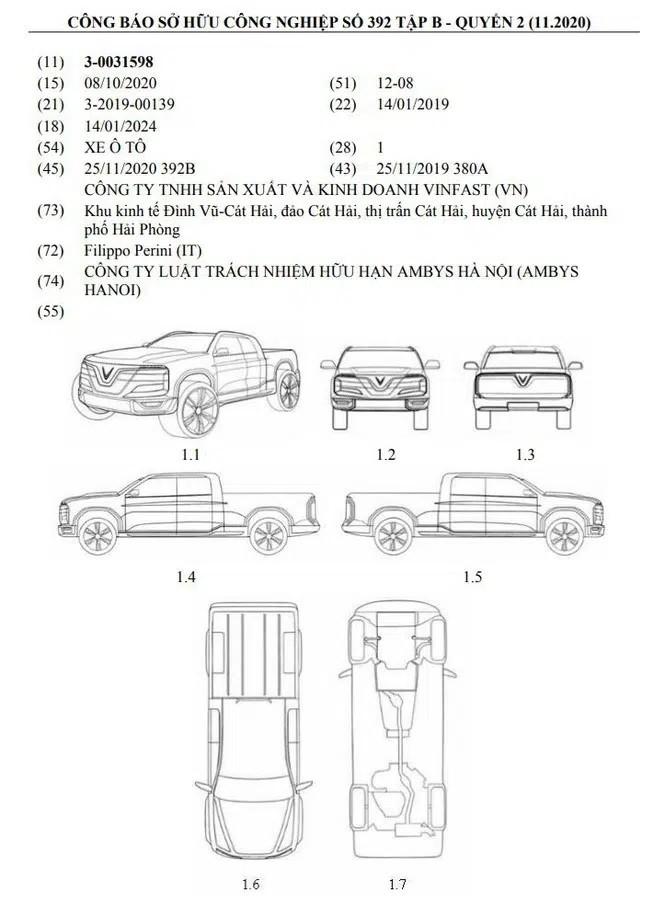 Thông tin xe bán tải VinFast được tiết lộ