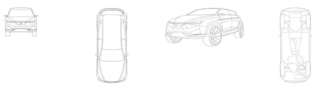 Mẫu crossover VinFast phân khúc hạng C, dự kiến cạnh tranh với CR-V hay Tucson.