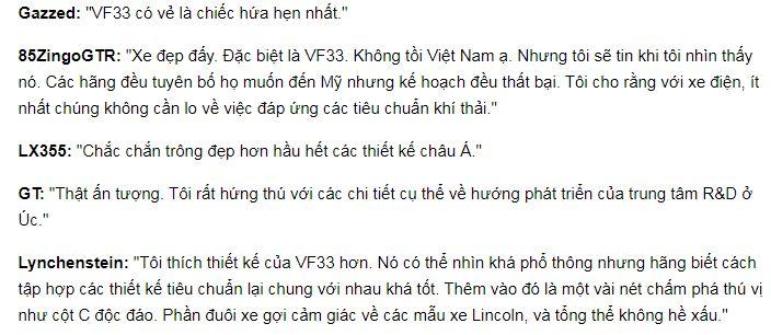Người nước ngoài nói gì về xe điện của VinFast