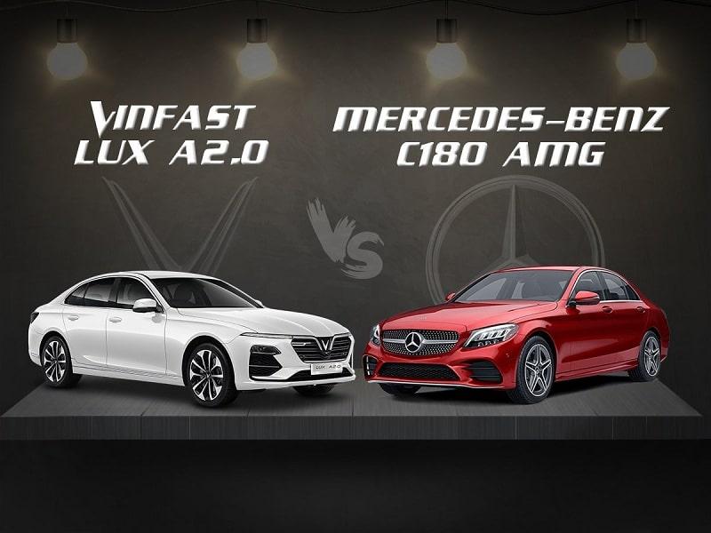 So sánh VinFast Lux A2.0 và Mercedes C180 AMG