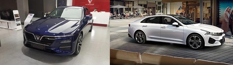 So sánh giá bán giữa VinFast Lux A2.0 và Kia Optima