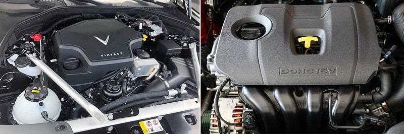 So sánh về động cơ giữa VinFast Lux A2.0 và Kia Optima