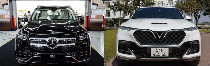 so sánh mẫu xe VinFast President và Mercedes GLS 450