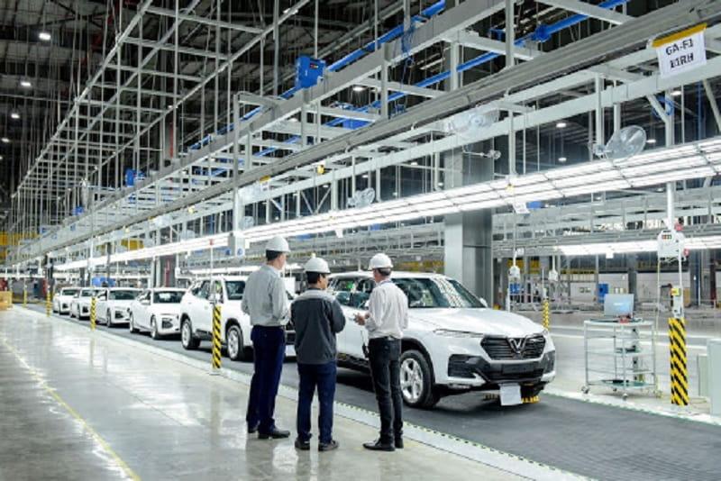 Nhà máy ô tô VinFast trang bị hệ thống máy móc, trang thiết bị hiện đại