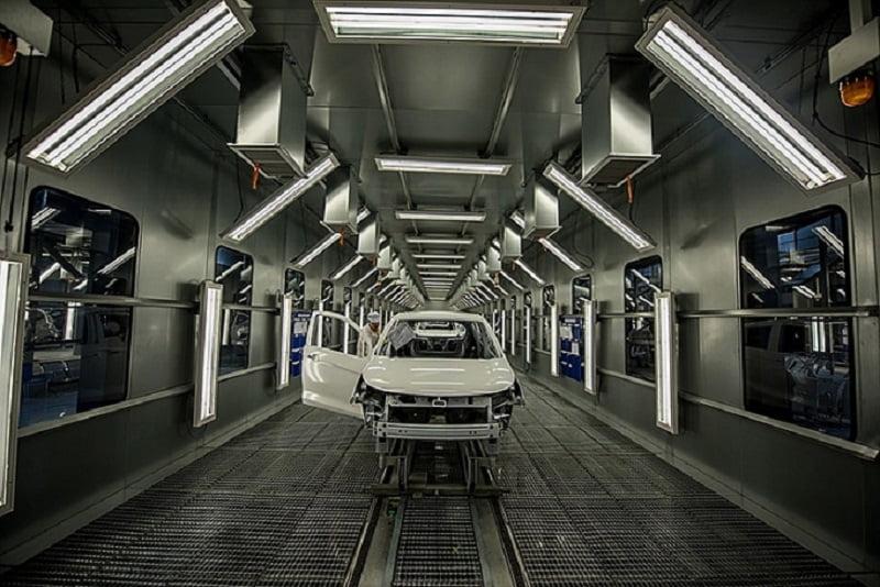 Công nghệ sơn ô tô đạt chuẩn Châu Âu tại nhà máy VinFast