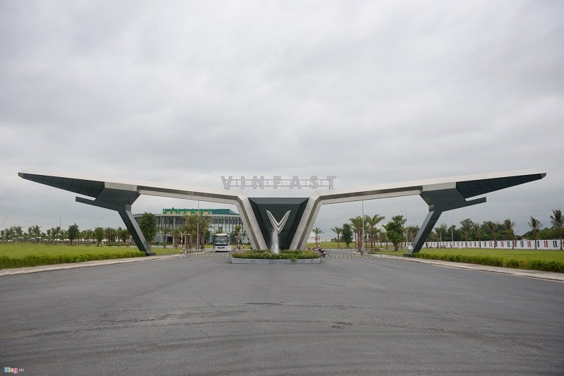 Nhà máy sản xuất xe ô tô của VinFast tại Hải Phòng