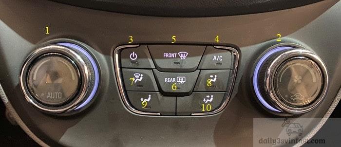 Điều chỉnh điều hòa nhiệt độ xe Fadil