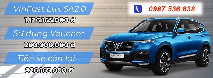 Ưu đãi cho dòng xe VinFast Lux SA2.0 tháng 7 2021