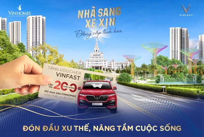 Mua nhà Vinhomes Smart City tặng ngay Voucher mua ô tô VinFast