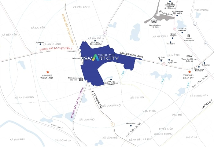 Vị trí dự án Vinhomes Smart City: Địa điểm kết nối hoàn hảo