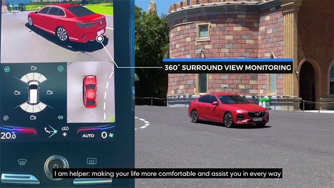 Công nghệ quan sát 360 độ trên xe VinFast