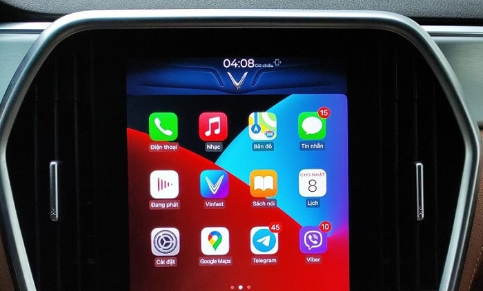 Tính năng Apple CarPlay trên VinFast được cập nhật trên dòng Lux